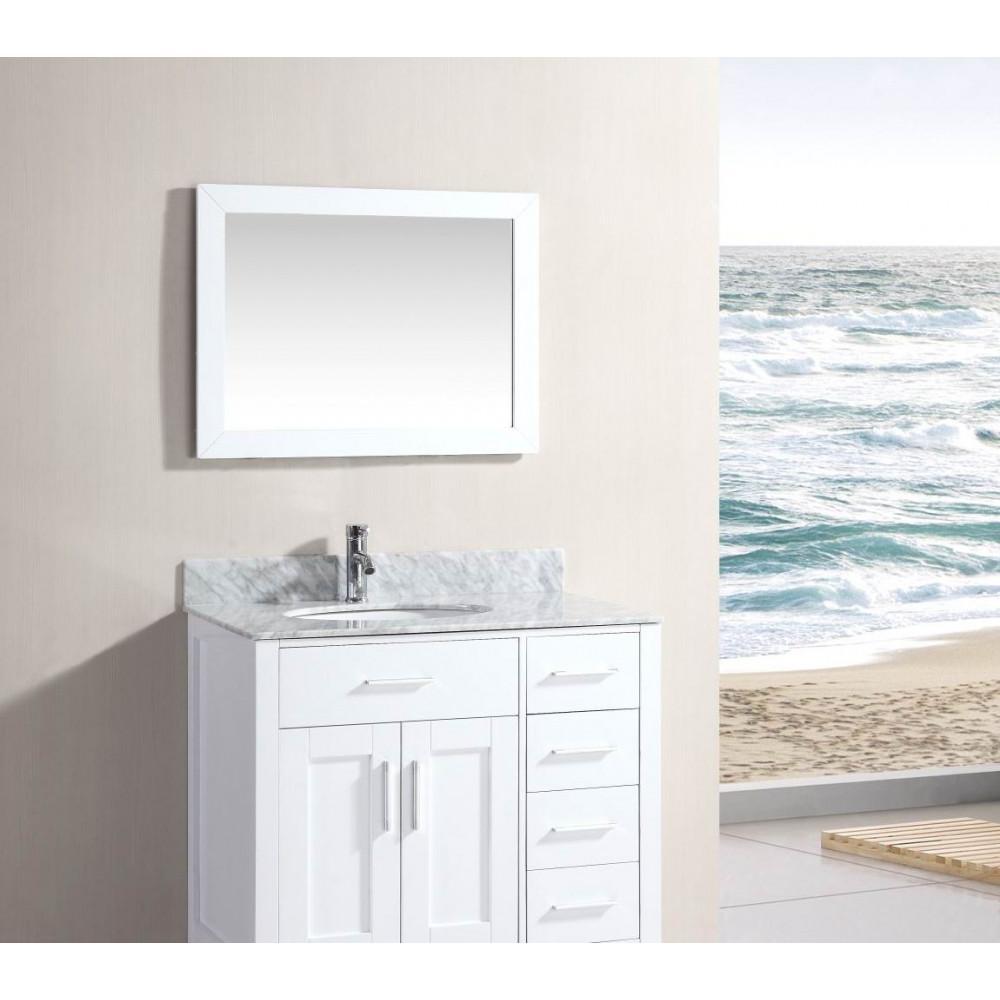 """White Mirror 36"""" Wide"""