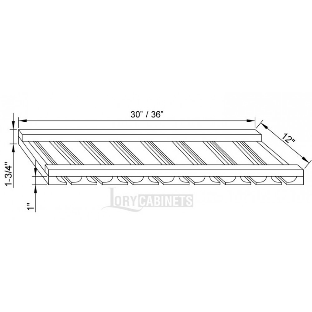"Glass Rack 36""W"