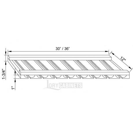 "Glass Rack 30""W"