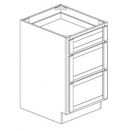 "Drawer Base Cabinet 21""W 3 Drawers"