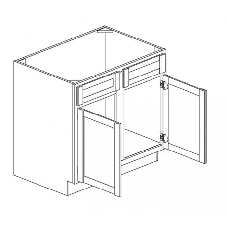 """Sink Base Cabinet 33""""W Double Doors"""
