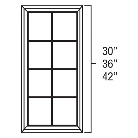 "Mullion Door 15""Wx36""H"