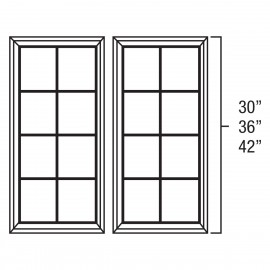 "Mullion Door 27""Wx42""H"