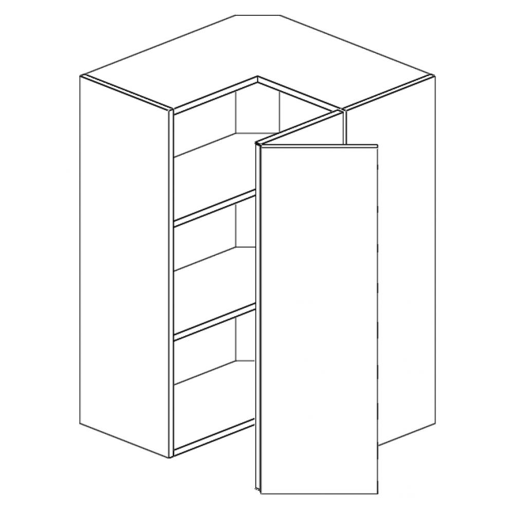 "Wall L-Shaped Corner 24""Wx30""H"
